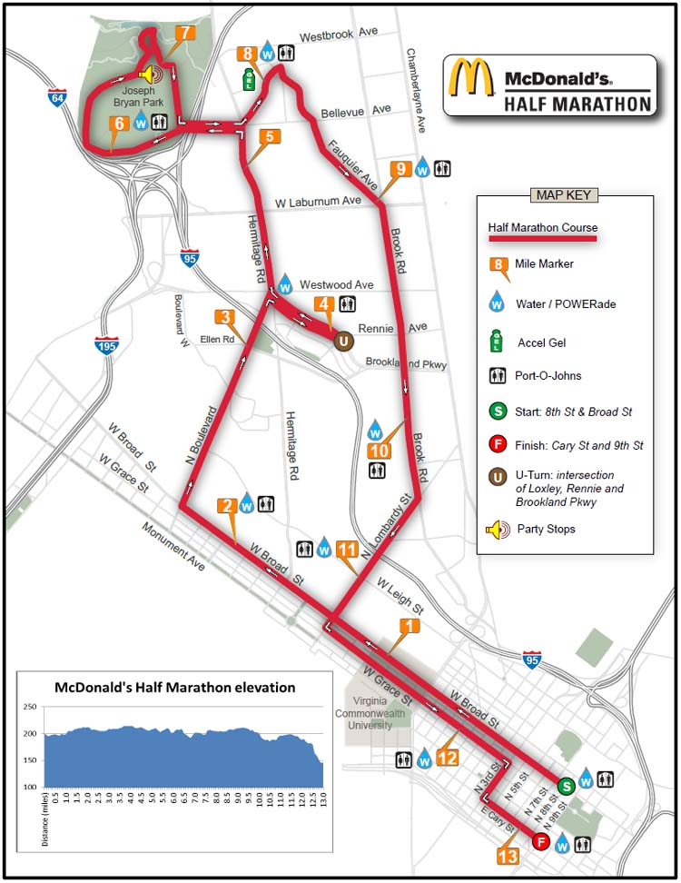 Richmond Traffic Map.Race Day Traffic Wordcamp Richmond 2011